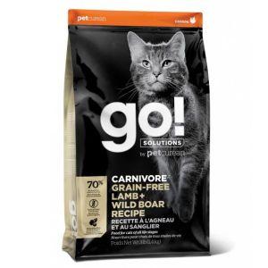 Корм сухой GO CARNIVORE GF Lamb + Wild Boar беззерновой корм для котят и кошек, с ягненком и мясом дикого кабана 1.4кг