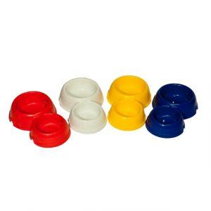 Двойная круглая миска YAMI-YAMI для кошек пластиковая, 150 и 250 мл