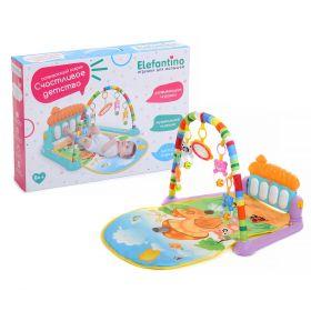 Развивающий коврик Elefantino с пианино Счастливое детство