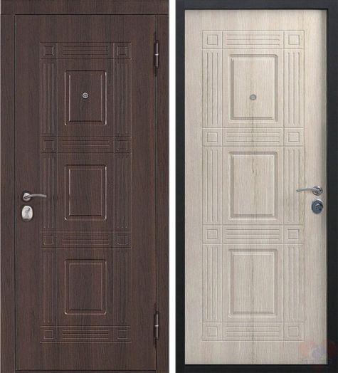 Входная дверь Виктория Лиственница мокко 45мм