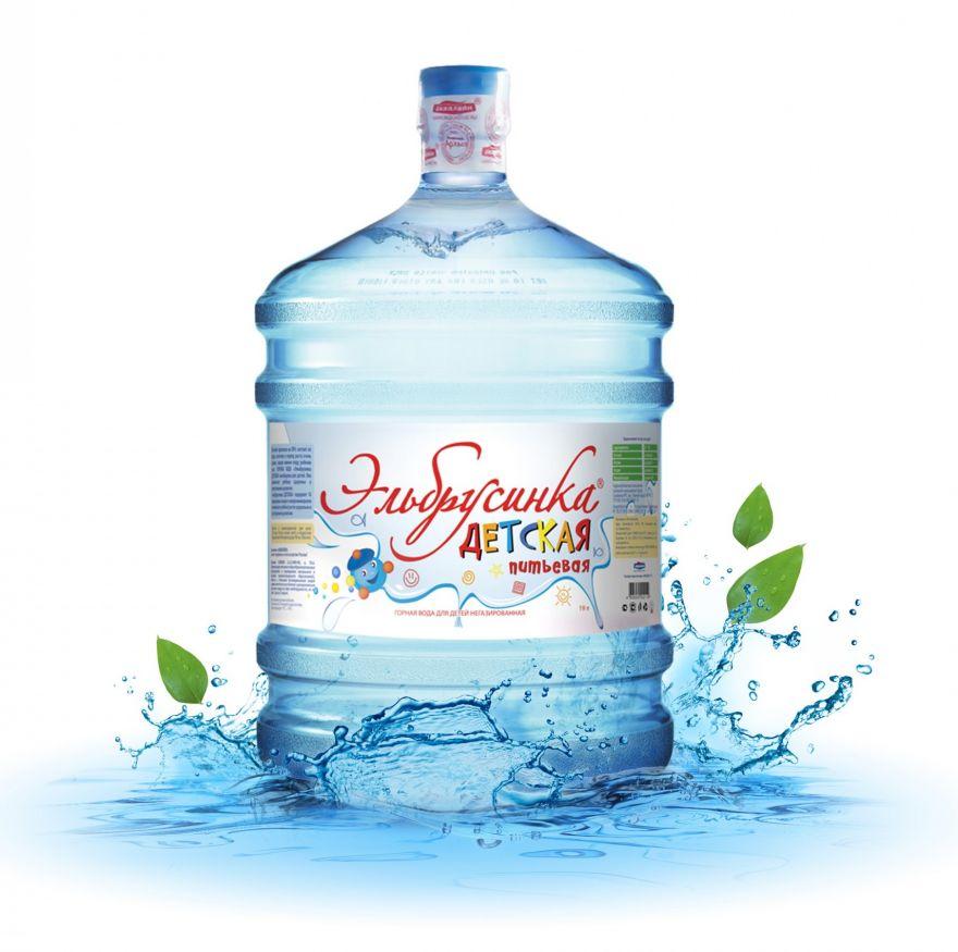 """Вода """"Эльбрусинка"""" детская горная минеральная"""
