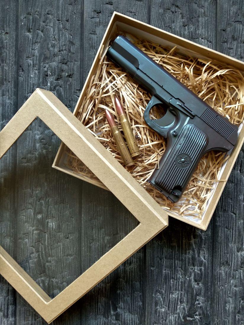 """Шоколадный набор""""Пистолет ТТ 3D"""""""