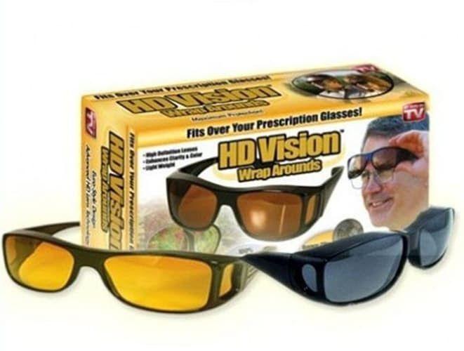 Антибликовые очки HD Vision WrapArounds, набор 2 шт