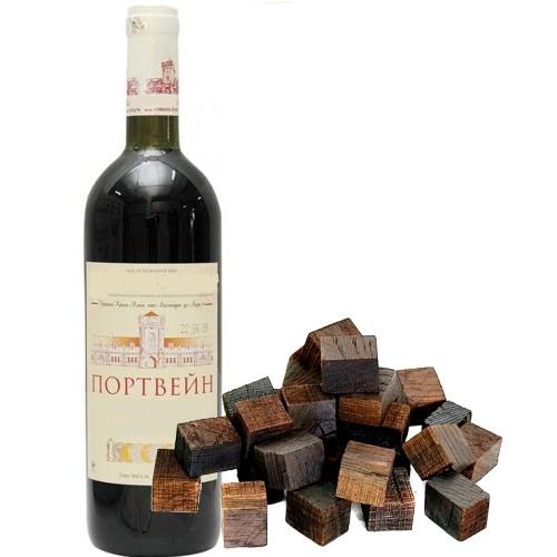 Дубовые кубики, выдержанные в красном Портвейне, 100 гр