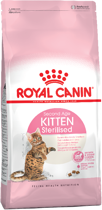 Royal Canin Kitten Sterilised для стерилизованных котят до 12 месяцев 400г