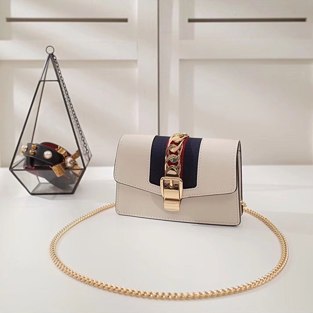Guc*i Sylvie mini chain bag