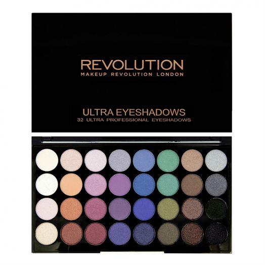 Revolution Makeup Палетка теней Ultra 32 Shade Eyeshadow Palette, Mermaids Forever