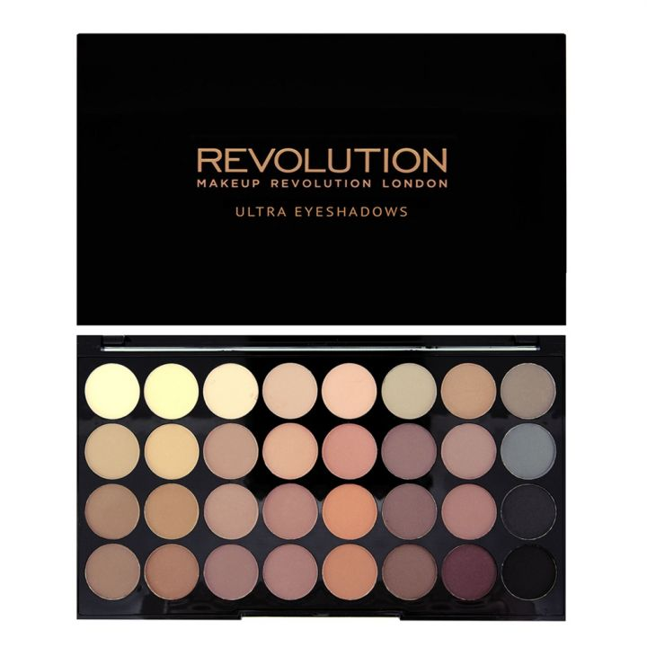 Revolution Makeup Палетка теней Ultra 32 Shade Eyeshadow Palette, Flawless Matte