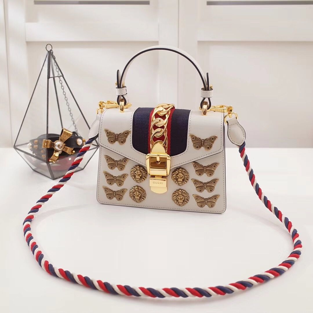 Guc*i mini Sylvie animal studs bag