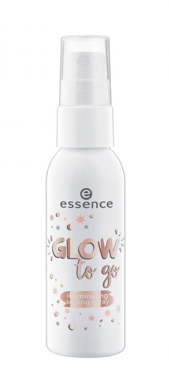 essence Спрей-люминайзер для фиксации макияжа glow to go illuminating setting spray