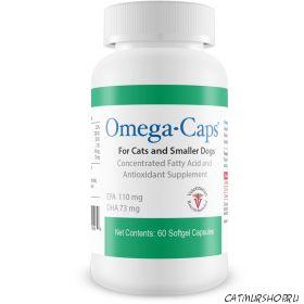 Omega-Caps для кошек и маленьких собак  60 гелевых капсул