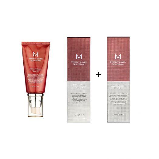 2 Missha ВВ-крем M Perfect Cover BB Cream #27+#21