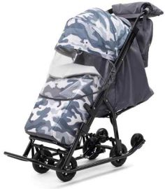 Санки коляска Pikate Compact Military Серый