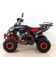 Квадроцикл подростковый бензиновый MOTAX ATV Raptor Lux черно-красный вид 2