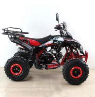 Квадроцикл подростковый бензиновый MOTAX ATV Raptor Lux черно-красный вид 5
