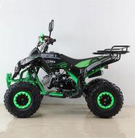Квадроцикл подростковый бензиновый MOTAX ATV Raptor Lux черно-зеленый вид 2