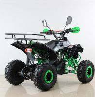 Квадроцикл подростковый бензиновый MOTAX ATV Raptor Lux черно-зеленый вид 4