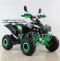 Квадроцикл подростковый бензиновый MOTAX ATV Raptor Lux черно-зеленый вид 6