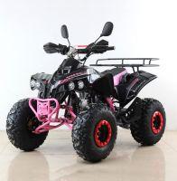 Квадроцикл подростковый бензиновый MOTAX ATV Raptor Lux черно-розовый вид 1