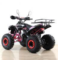 Квадроцикл подростковый бензиновый MOTAX ATV Raptor Lux черно-розовый вид 3