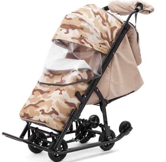 Санки коляска Pikate Compact Military Бежевый
