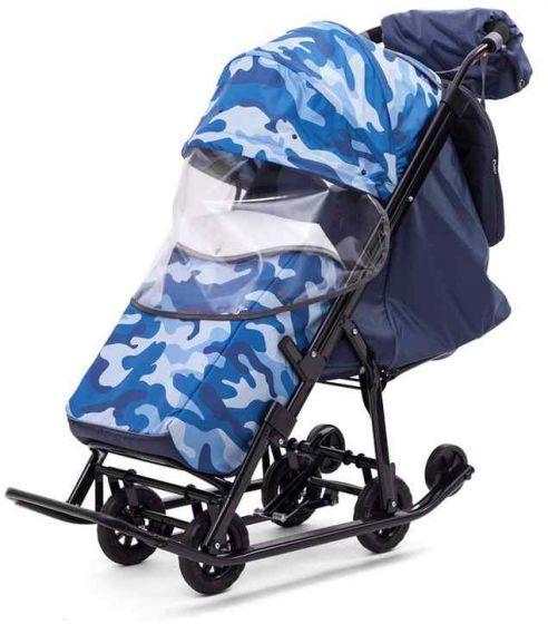 Санки коляска Pikate Compact Military Синий