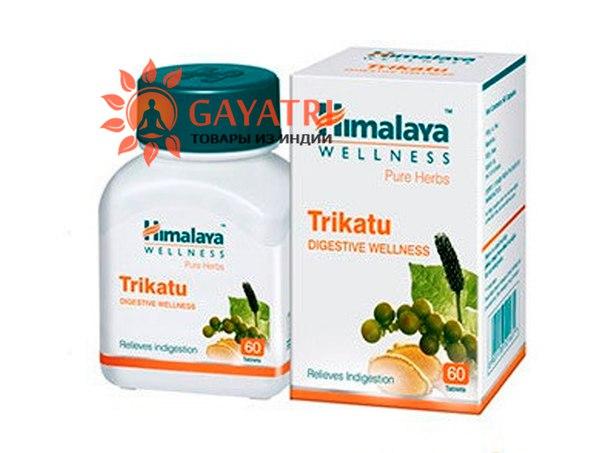 Трикату, для пищеварения, 60 таб, производитель Хималая; Trikatu, 60 tabs, Himalaya