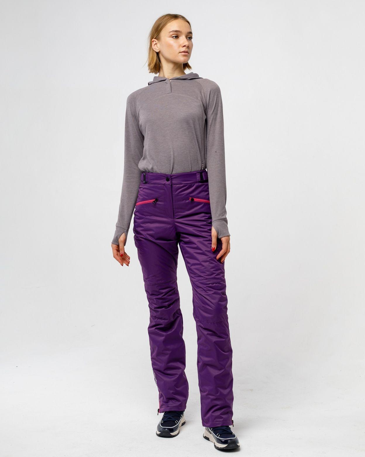 Утепленные женские брюки фиолетово мембрана HEIDEN  вид3