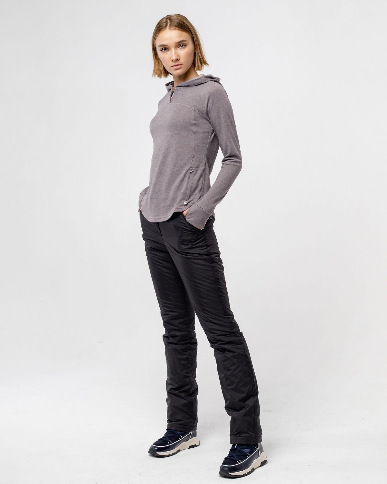 Плащевые женские черные брюки HEIDEN  вид2