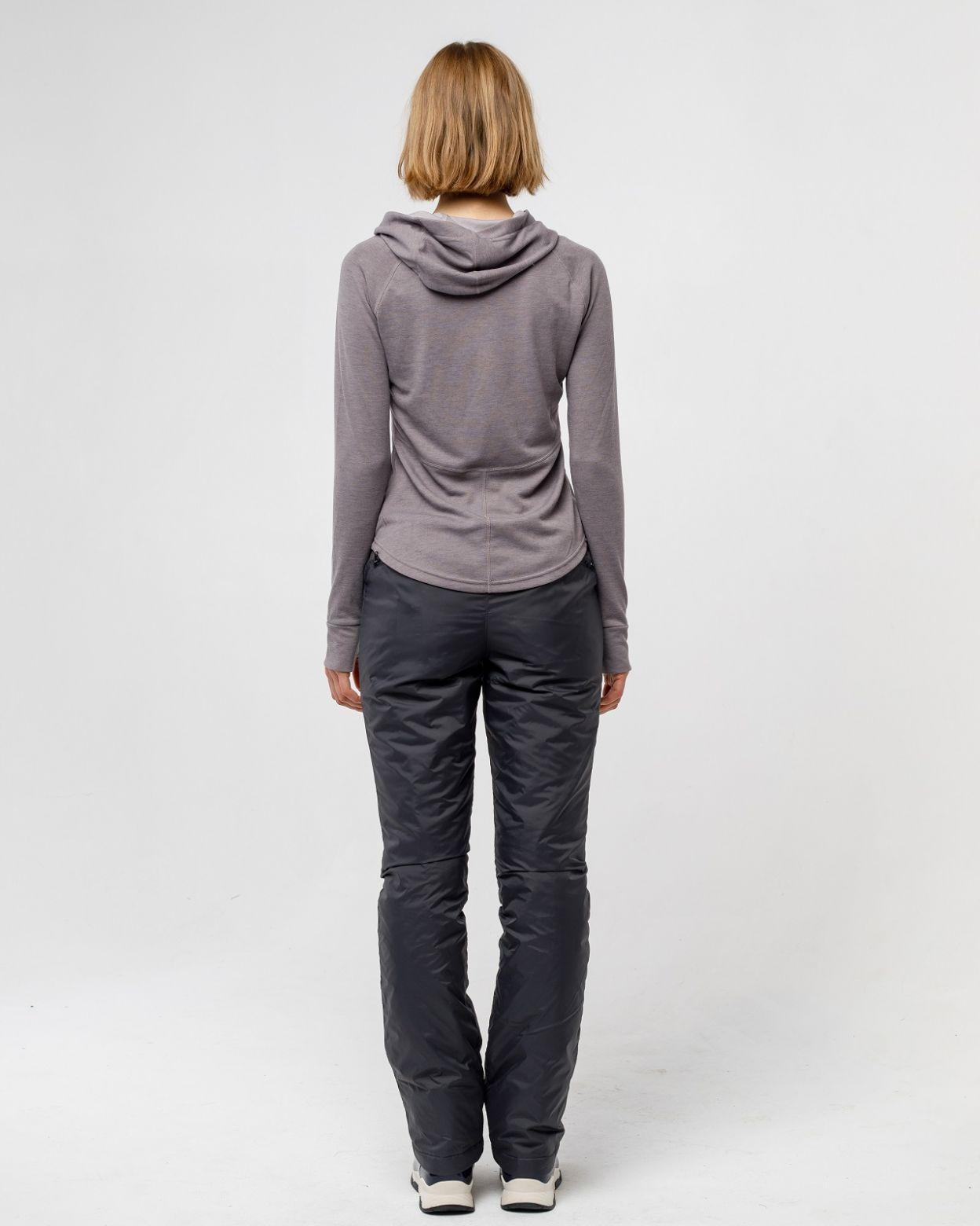 Плащевые женские серые брюки HEIDEN  вид4