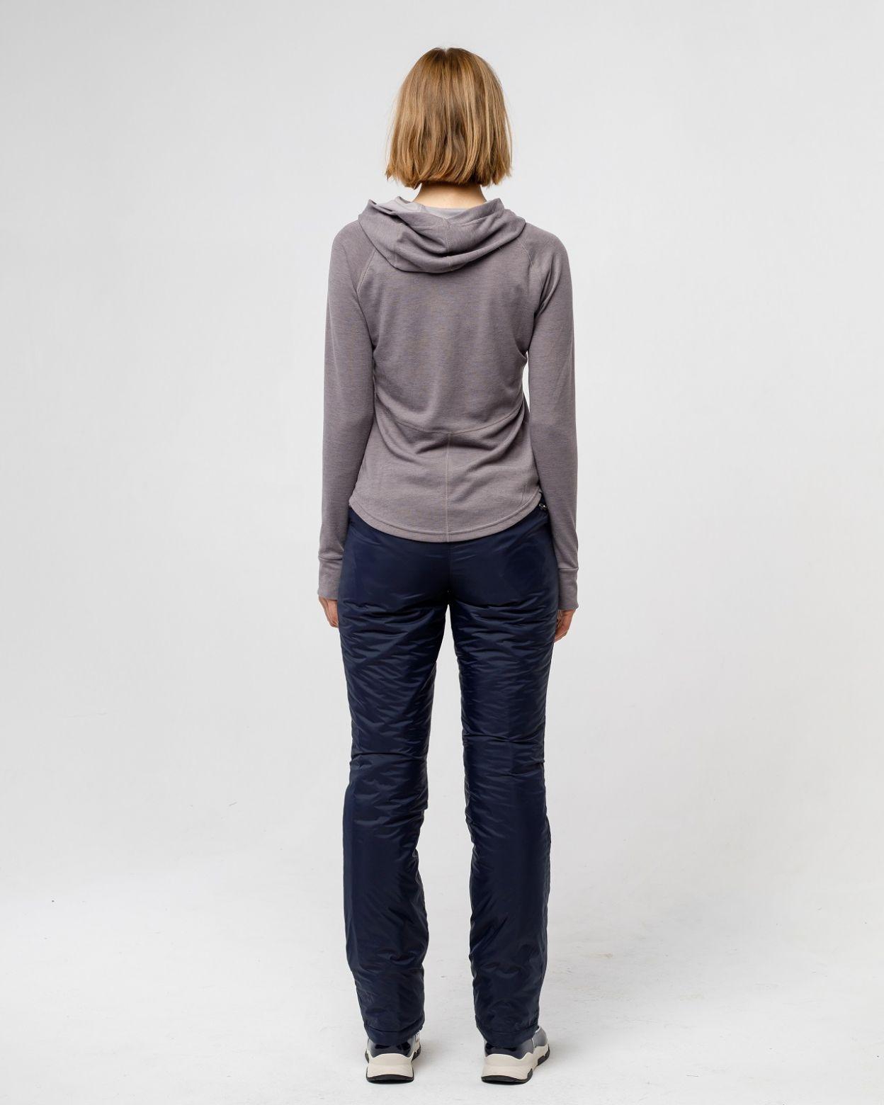 Плащевые женские синие брюки HEIDEN  вид4