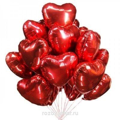Фольгированное сердце с гелием