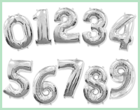 Фольгированная цифра с гелием