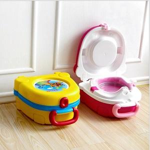 Портативный складной детский горшок-чемоданчик The Handy Potty, Цвет Жёлтый