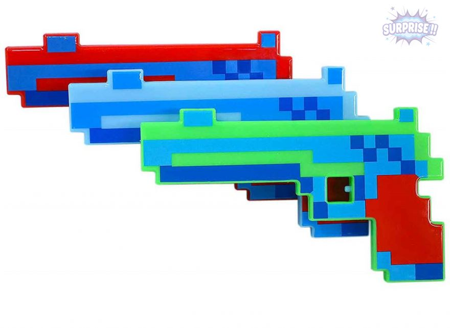 Пистолет (Minecraft) 25.5см (свет+звук)(№YS9914)