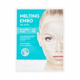 MISSHA Melting Embo Gel Mask (Relaxing-Bomb) 33g - Гидрогелевая маска с успокаивающим эффектом с сосной, алоэ и ромашкой