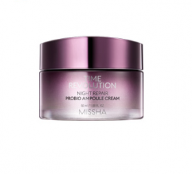 Missha Time Revolution Night Repair Probio Ampule Cream 50ml - Антивозрастной ночной ампульный