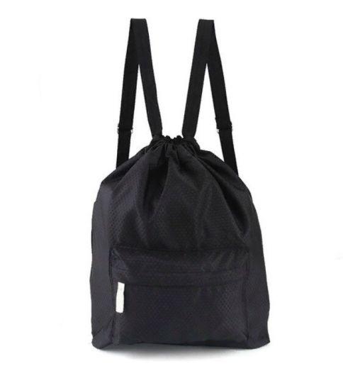 Пляжная сумка-рюкзак с отделением для мокрых вещей, 30х40 см (цвет черный)