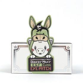Elizavecca Donkey Piggy Milky Egf Cling Eye Patch 70g - Осветляющие антивозрастные патчи для глаз