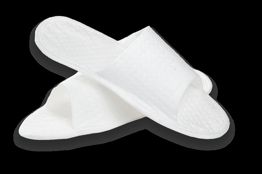 """Тапочки с открытым мысом белые, в индивидуальной упаковке """"Боббер"""" (1/150)"""