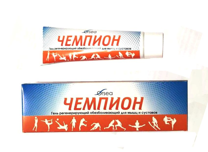 ЧЕМПИОН, гель обезболивающий для мышц и суставов