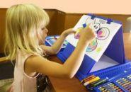 """Чемоданчик """"Набор Юного художника"""" для рисования 176 предметов с мольбертом"""