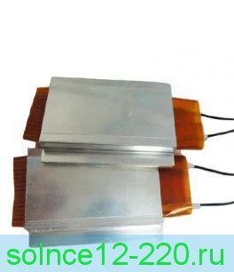 Термоэлемент 20 мм х 35 мм  200 ватт 12 вольт ( термокерамика 200-350 градусов) . Крепить на радиатор! Без радиатора может расплавиться.