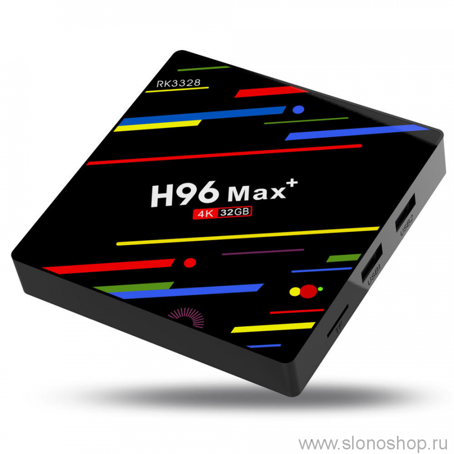 Смарт ТВ андроид приставка H96 Max+ Android 7.1 Smart TV Box