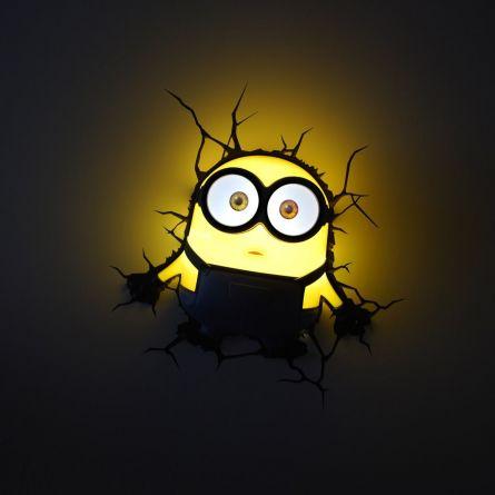 Minions Пробивной 3D светильник Боб