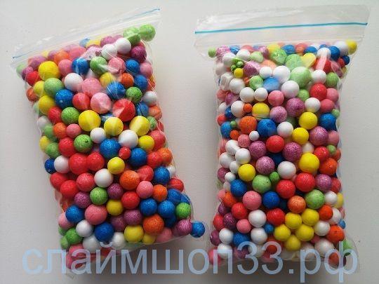 Пенопластовые шарики 6-8 мм