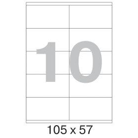 73622 / 641803 Этикетки самоклеящиеся MEGA LABEL 105х57 мм / 10 шт. на листе А 4 (100 листов в пачке)