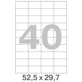 73643 Этикетки самоклеящиеся Promega label белые 52.5х29.7 мм (40 штук на листе А4, 100 листов в упаковке)