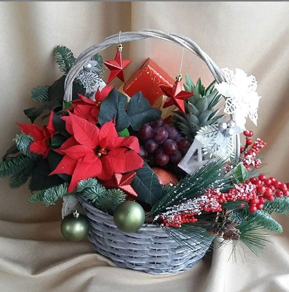 Подарочная корзина Рождественская звезда