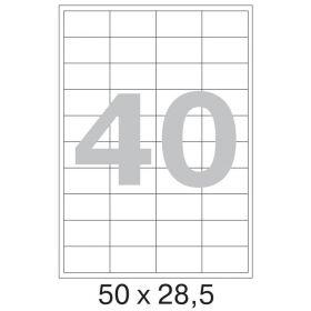 73644 Этикетки самоклеящиеся Promega label белые 50х28.5 мм (40 штук на листе А4, 100 листов в упаковке)